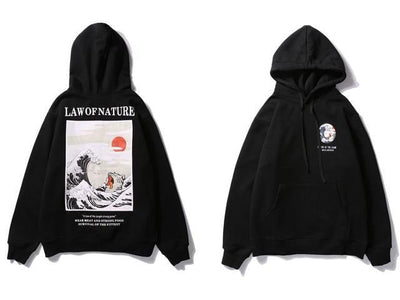 Sweat Hoodie LAW OF NATURE - Noir / M - Boutique en ligne Streetwear