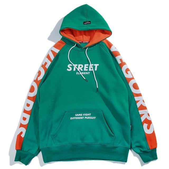 Sweat Hoodie STREET ELEMENT - Bleu / M - Boutique en ligne Streetwear