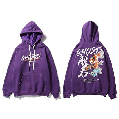 Sweat Hoodie GHOSTS - Violet / M - Boutique en ligne Streetwear