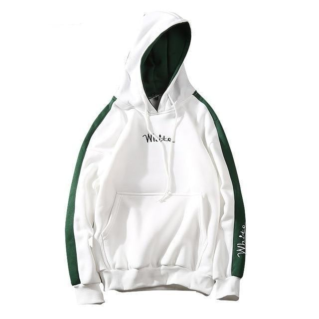 Sweat Hoodie WHITE - Blanc / M - Boutique en ligne Streetwear
