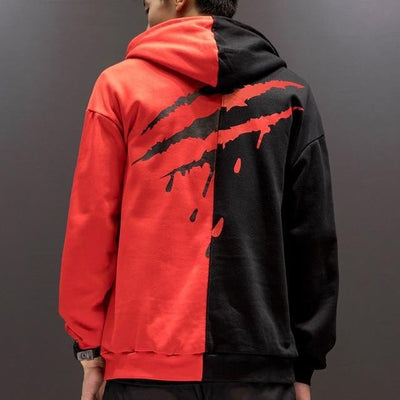 Sweat Hoodie SAVAGE - Rouge / XS - Boutique en ligne Streetwear