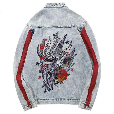 VESTE DENIM DRAGON - Boutique en ligne Streetwear