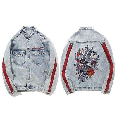 VESTE DENIM DRAGON - M - Boutique en ligne Streetwear