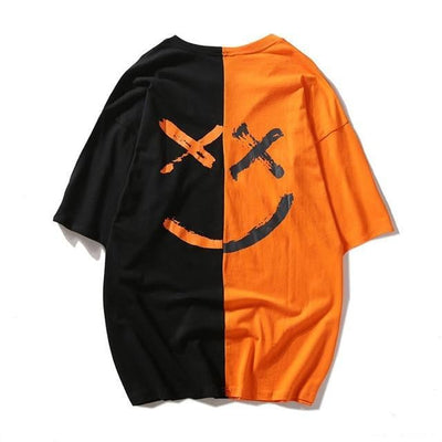 T-shirt imprimé SMILE - Orange / S - Boutique en ligne Streetwear