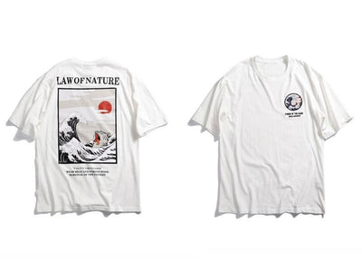 T-shirt imprimé LAW OF NATURE - Boutique en ligne Streetwear