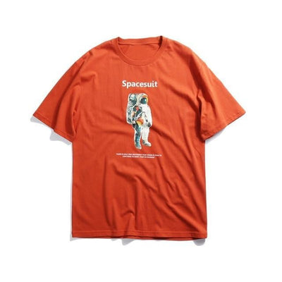 T-shirt imprimé SPACESUIT - Orange / M - Boutique en ligne Streetwear