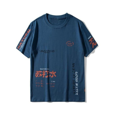 T-shirt imprimé GOOD WATER - Bleu / S - Boutique en ligne Streetwear