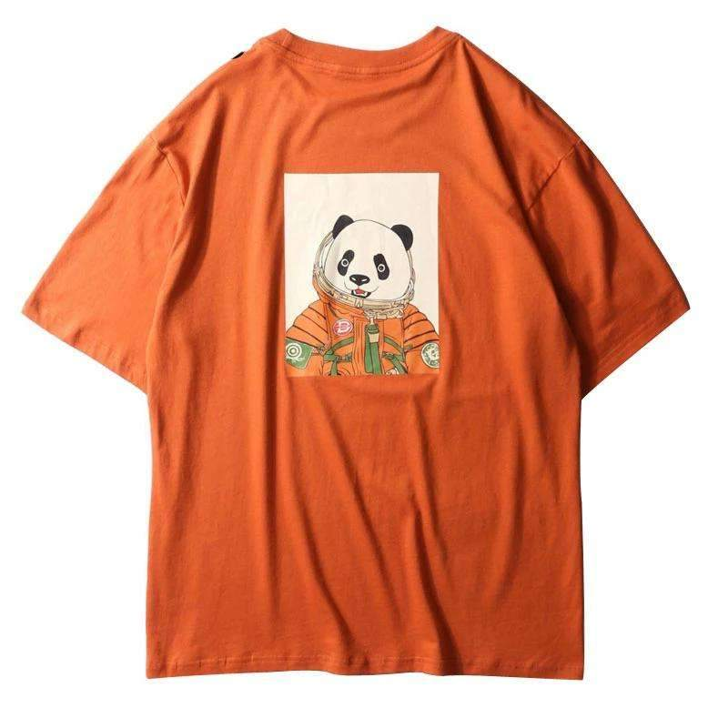 T-SHIRT PANDA - Orange / M - Boutique en ligne Streetwear