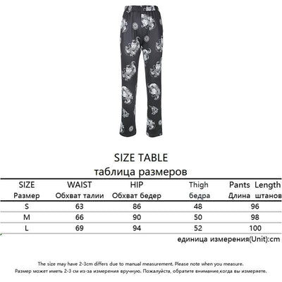 Rapwriter Casual Elastic High Waist Milk Cow Print Pants Women 2018 Spring Straight Loose Fashion Trousers Pantalon Femme Pants