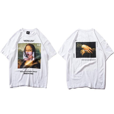 "T-Shirt ""MONA LISA"" x MADE IN CHINA™ - Blanc / S - Boutique en ligne Streetwear"