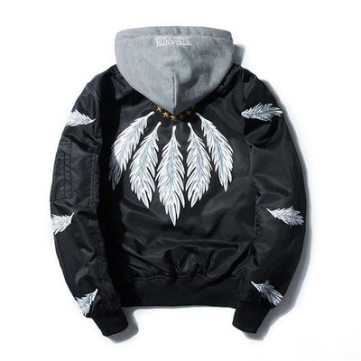 Veste à capuche FEATHER - Noir / XS - Boutique en ligne Streetwear