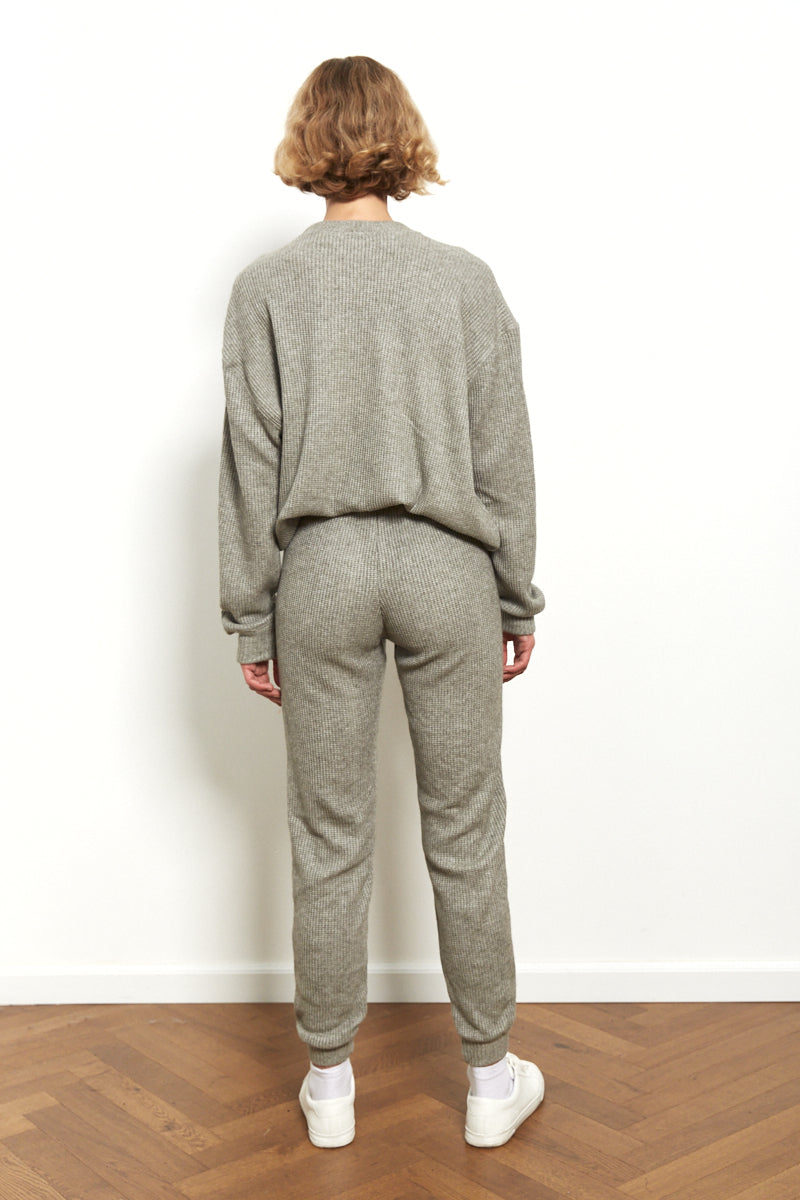 Knit jogger in Grey