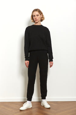 Knit jogger in Black
