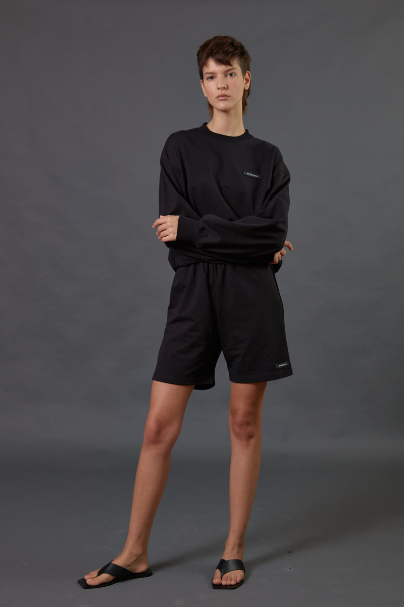 Light tracksuit shorts in Black