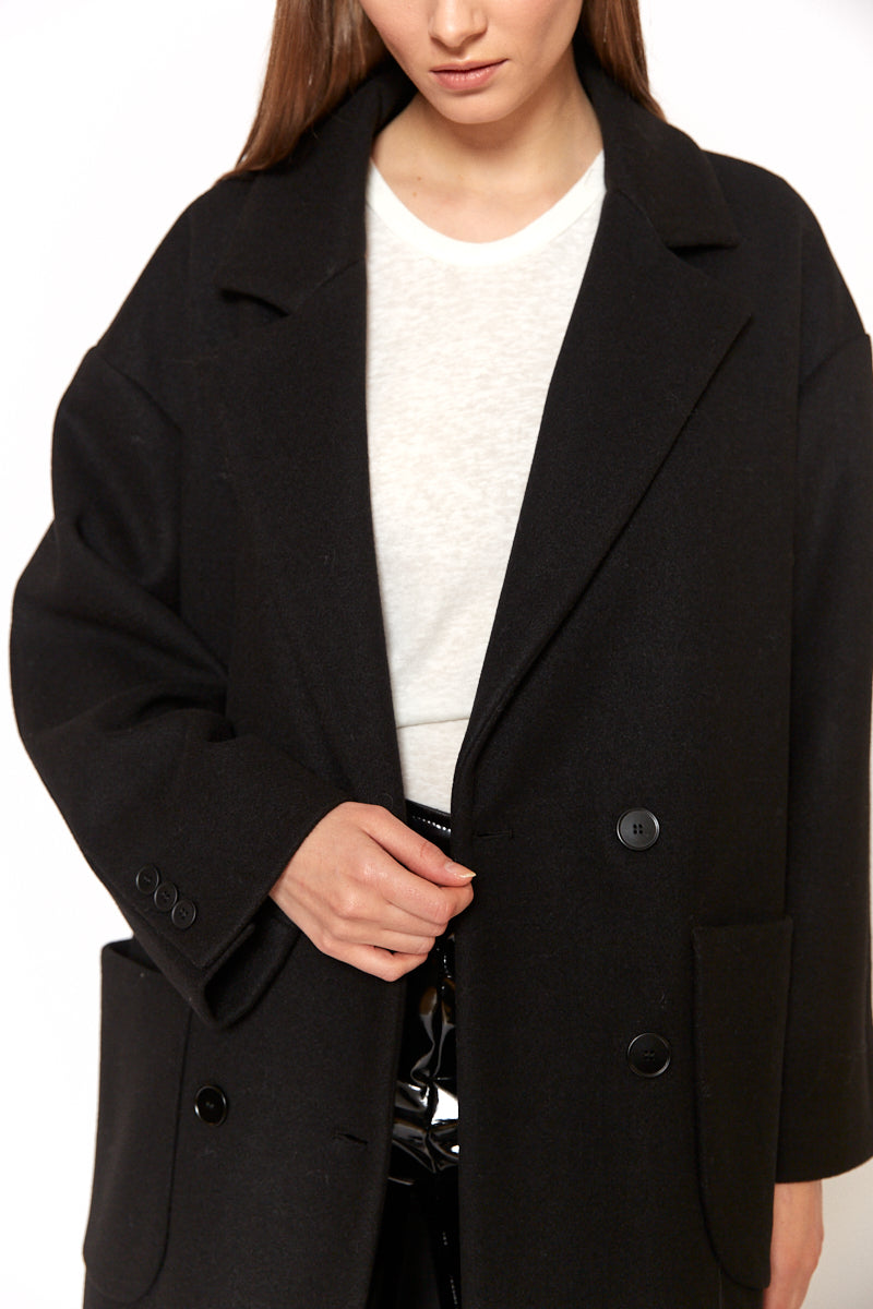 Oversized basic coat