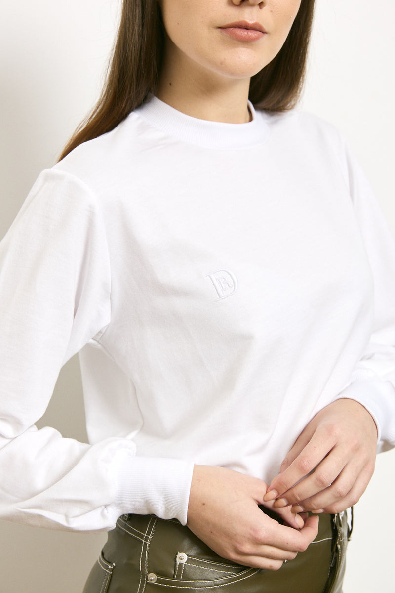 DR signature shirt in White