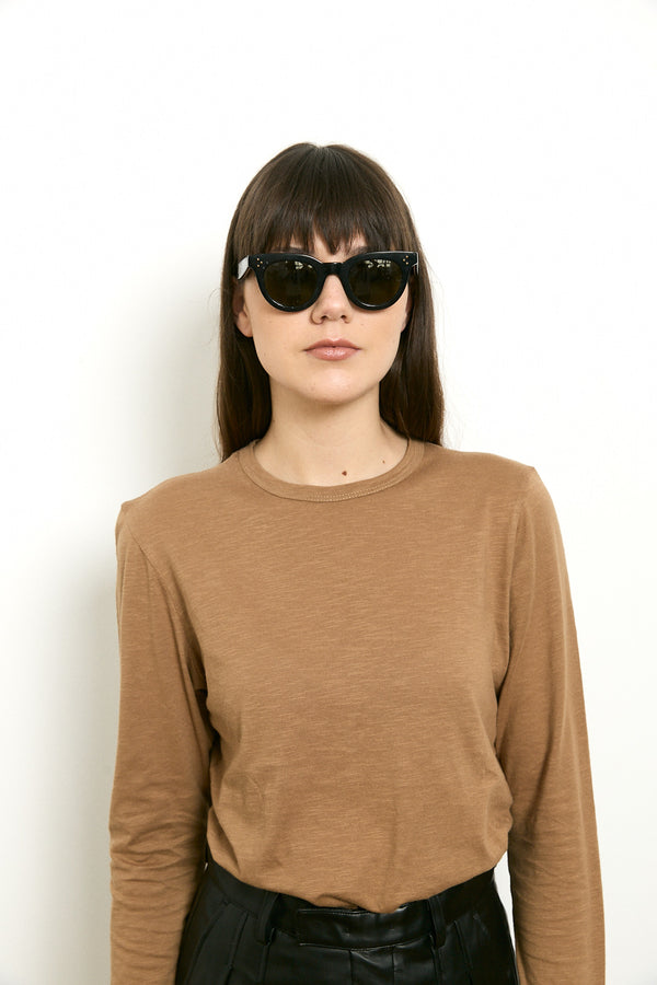 Roco long sleeves shirt in Camel