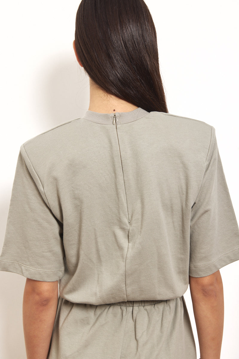 Padded shoulders blouse
