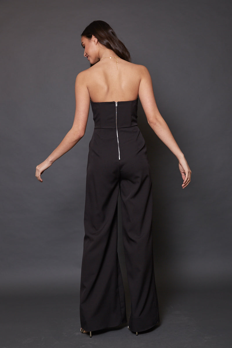 Strapless long jumpsuit