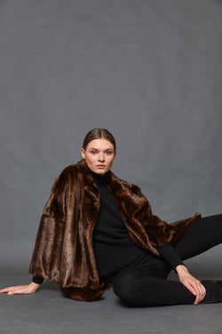 Oversize faux fur jacket