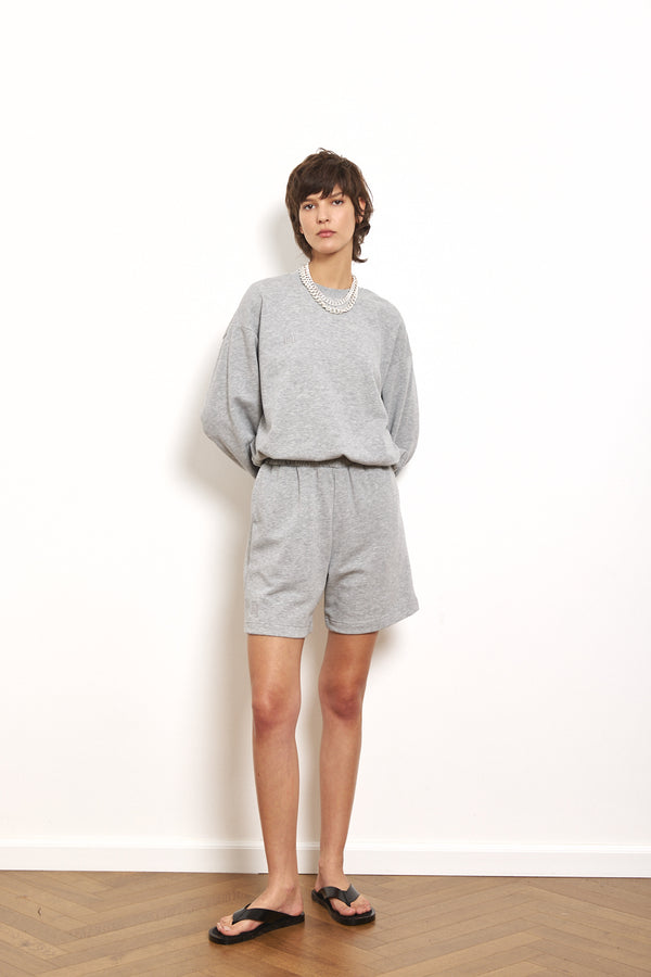 Spring tracksuit shorts in Light Grey