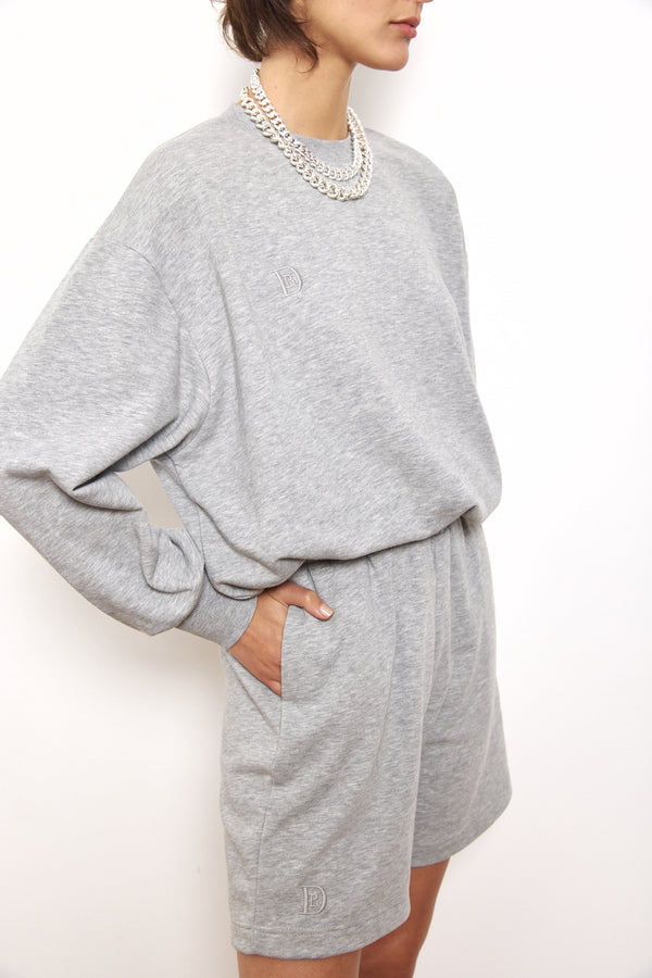 Spring tracksuit sweatshirt in Light Grey