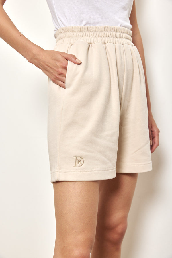 Spring tracksuit shorts in Nude