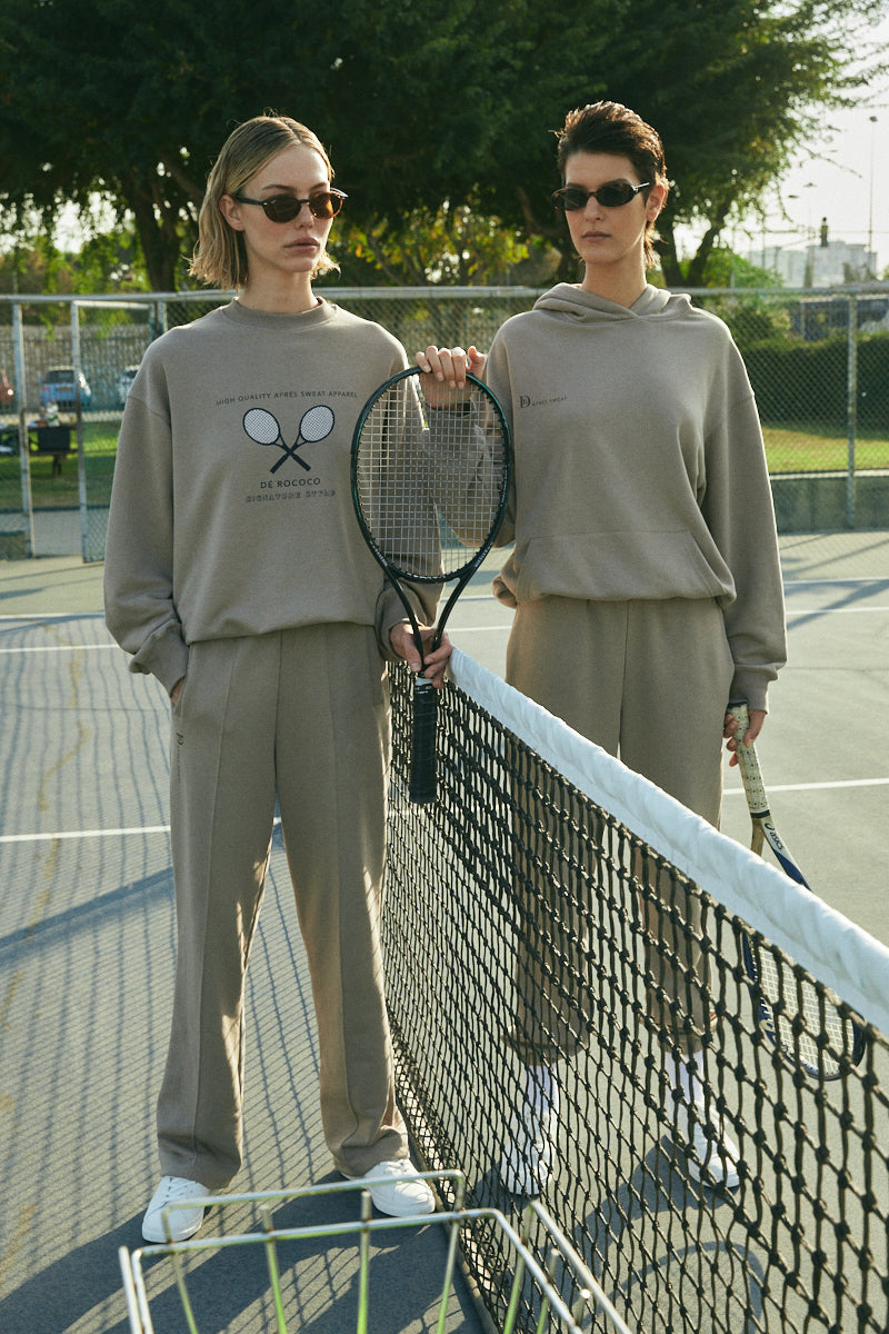 Tennis sweatshirt in Coffee