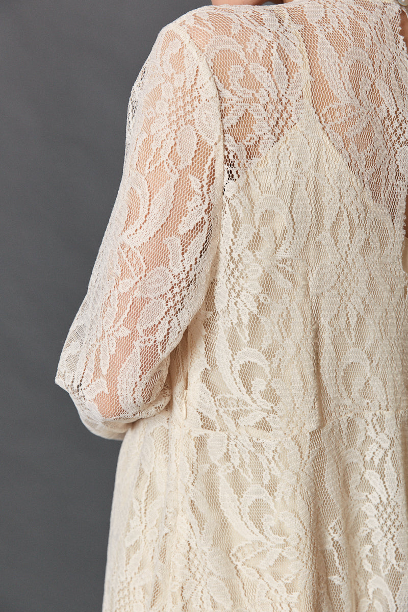 Wide lace dress