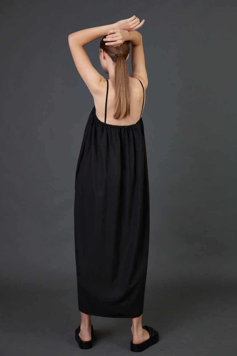 Spaghetti straps maxi dress Black