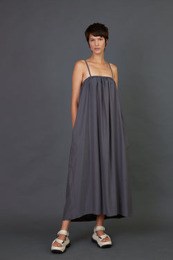 Spaghetti straps maxi dress Dark grey