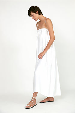 Spaghetti straps maxi dress White