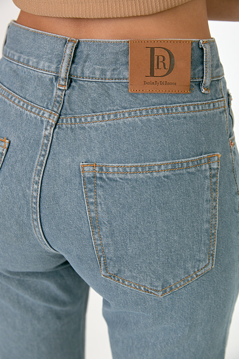 DR zipper bermuda jeans in grey