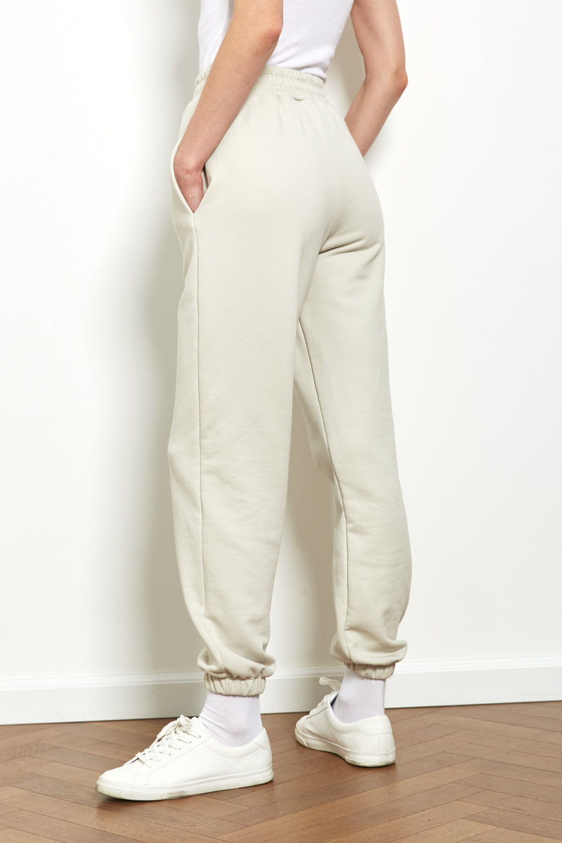 Jogger sweatpants in Stone