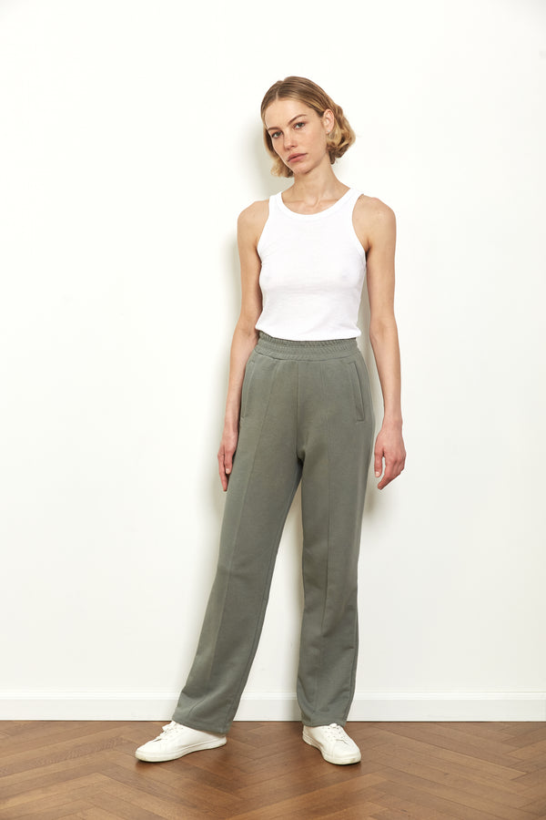 Tracksuit pants in Sage