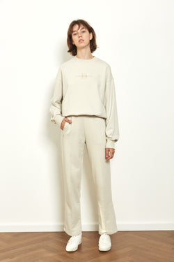 Tracksuit pants in Stone