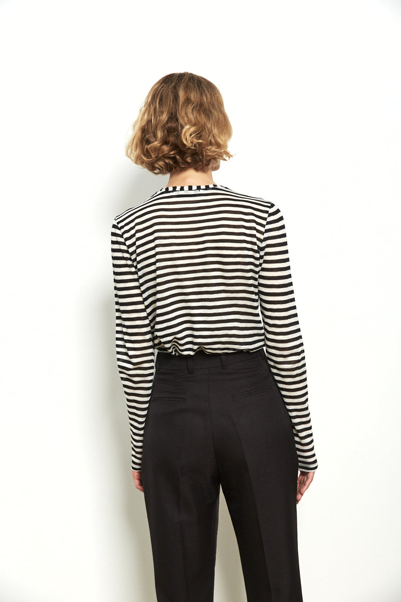 Thick striped shirt in Black & White