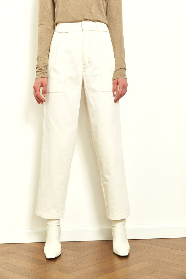 Utility pants in White