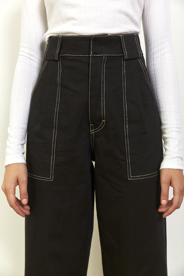 Utility pants in Black