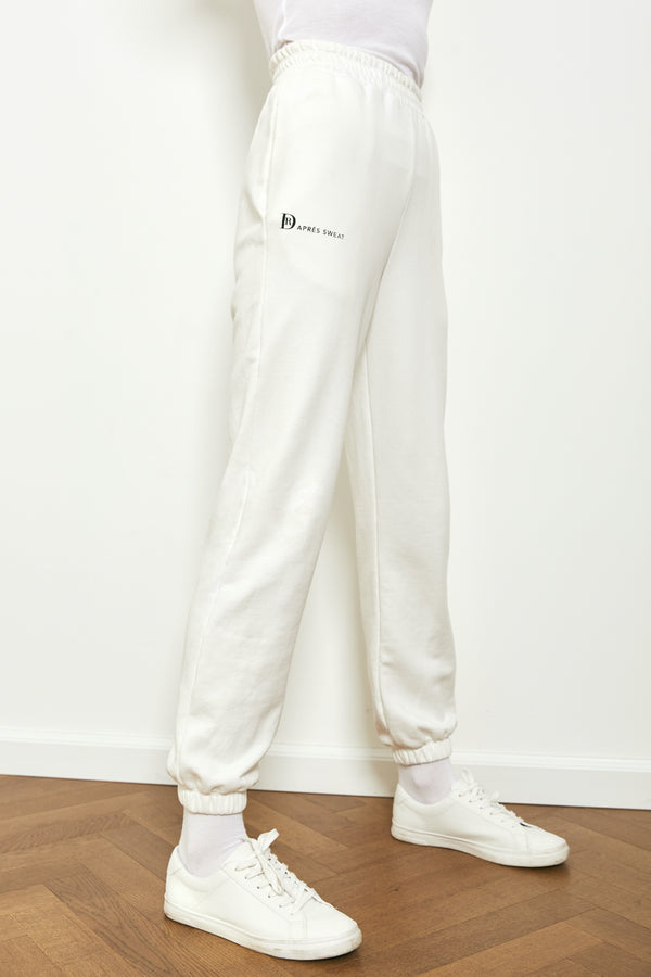Jogger sweatpants in Off white