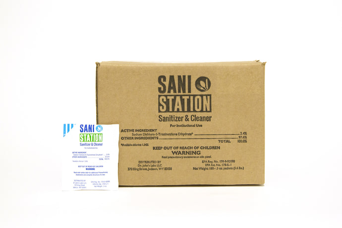 Sani Station Sanitizer & Cleaner packets (100 ct - .5oz) for food safe cleaner systems