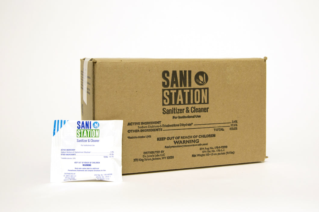 Sani Station Sanitizer & Cleaner (100 ct - 1.5 oz) - for food safe cleaner systems