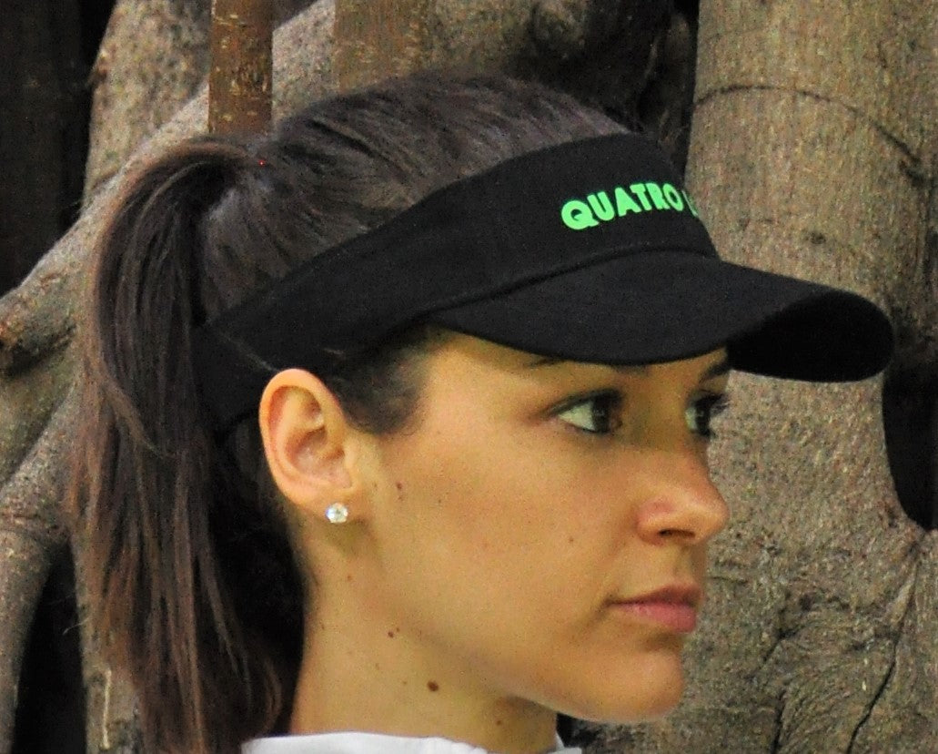 Quatro Logiq Visor - Black high quality material adjustable visor
