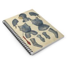 German Tournament Armor Spiral Notebook - Ruled Line