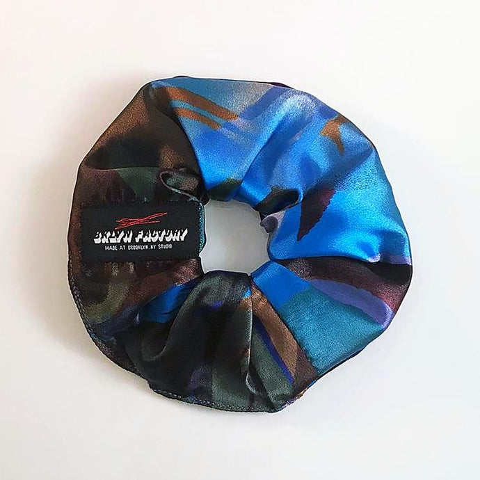 Peacock Hair Scrunchie