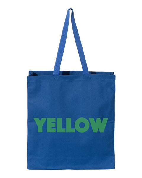 Yellow? Shopping Tote by Monkeys For Helping