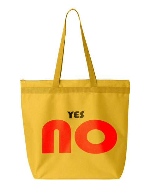 yes NO Shopping Tote by Monkeys For Helping