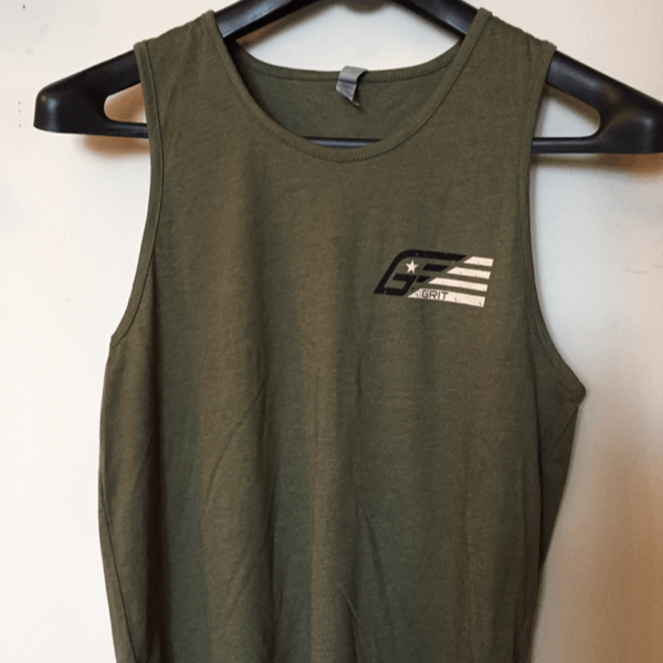 Men's Pure Grit tank - OD green - Blue Grit