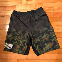 Alfa short (camo) - Blue Grit