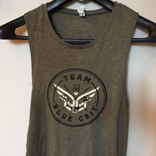 Women's Team BG muscle tank - Blue Grit